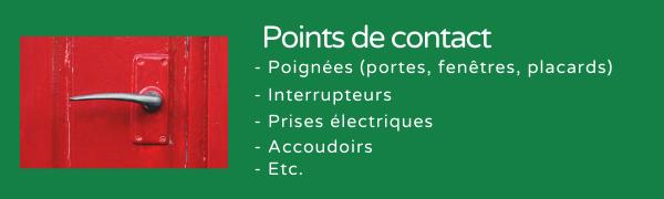 Protocole de nettoyage points de contact
